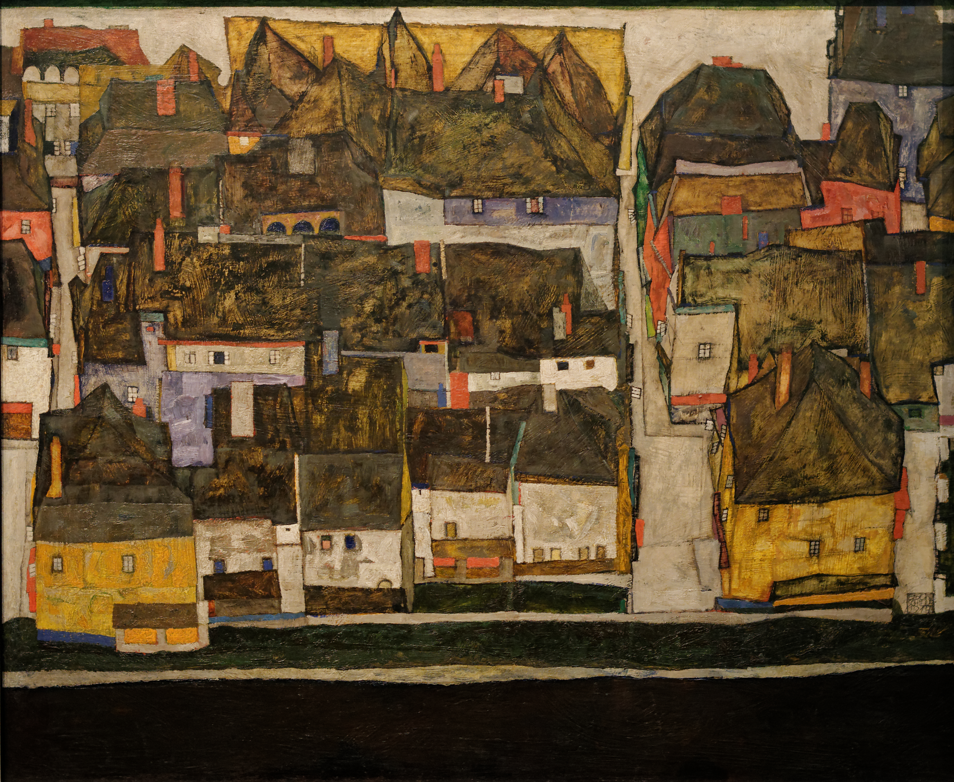 Egon Schiele   Crescent of Houses II Island Town   Google Art Project Single Post Template 21 Duzy tytuł
